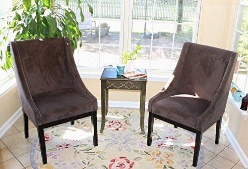 Microfiber-Modern-Sofa-Arm-Chairs-Set-of-2-Dark-Brown-Chair-living-Room-Legs-Esp
