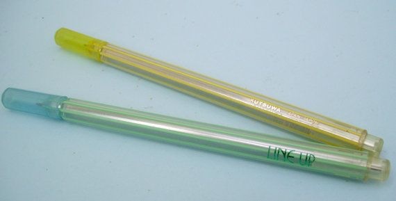 Kutsuwa Line Up Pen. Striped Ballpoint Pen. 1980s by JirjiMirji, €17.90
