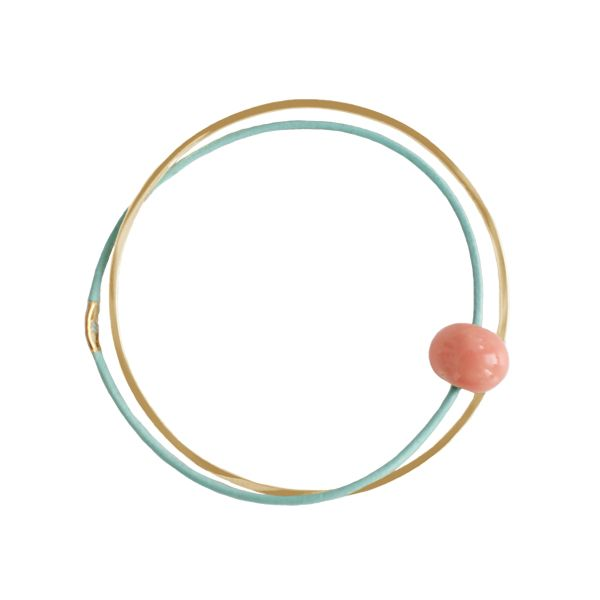 Pendulum Armbånd, Ceramic, Guld/Mint/Koral