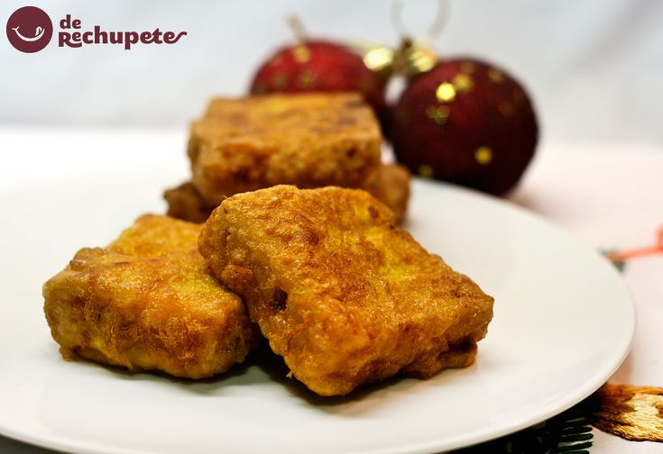 Leche frita con turrón de Jijona. Postre navideño - Recetasderechupete.com