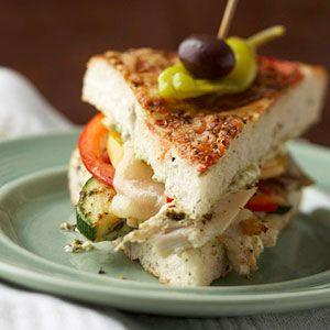 Pesto chicken sandwich.