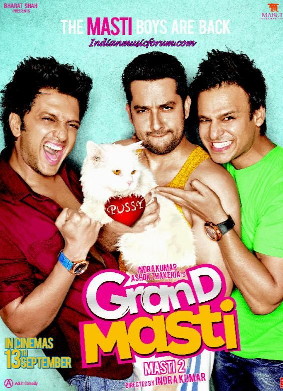 Grand Masti (2013) - Hindi MovieMp3 Songs Download Grand Masti (2013) - Hindi Movie Mp3 Songs Download for free. Also Download all Songs in a Single file http://www.indianmusicforum.com/2013/09/grand-masti-2013-hindi-movie-mp3-songs.html