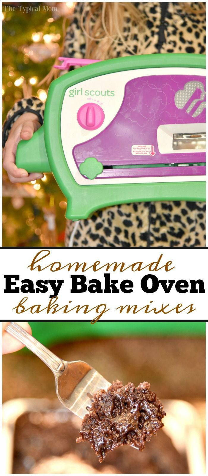 Homemade easy bake oven recipes are great to save you a bit of money. Easy brownie and cake mixes you can use that taste just as good as store bought! via @thetypicalmom