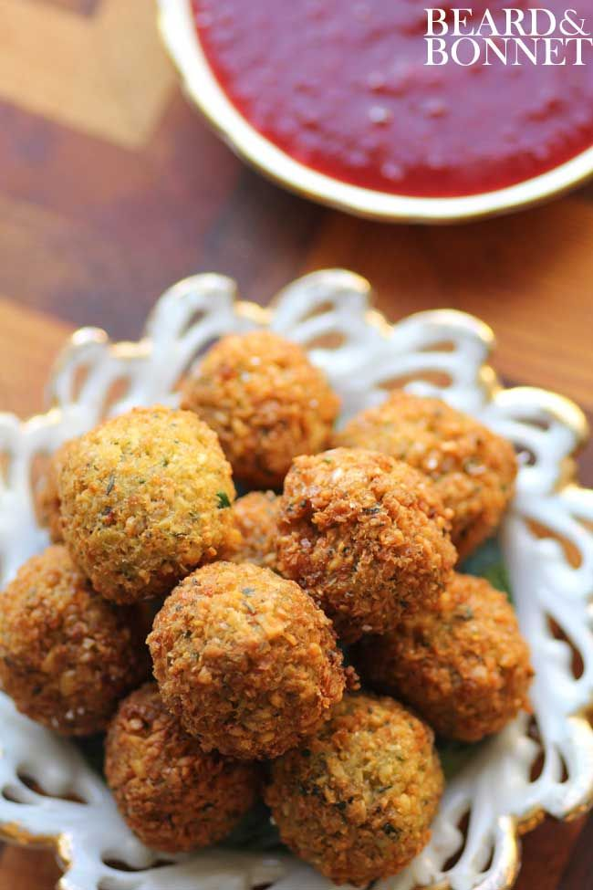 Yes please! Thanksgiving Stuffing Poppers with Cranberry Jalapeno Dipping Sauce (Gluten Free and Vegan)