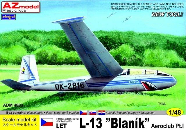 Let L-13 Blaník. Admiral, 1/48, initial release 2013, No.4803. Price: 14,55 EUR (marketplace).
