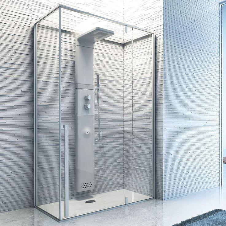 Trasforma la tua #doccia in vero momento di piacere, con #Babelsteam, la doccia #hammam con pannello doccia in ceramica di @glass1989 -  www.gasparinionline.it -  #shower #relax #casa #interiors #spa #benessere #home