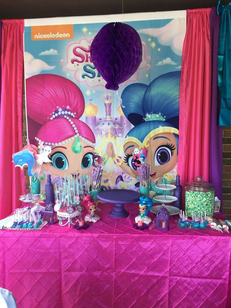 Shimmer and Shine Birthday Party Ideas  twin bday