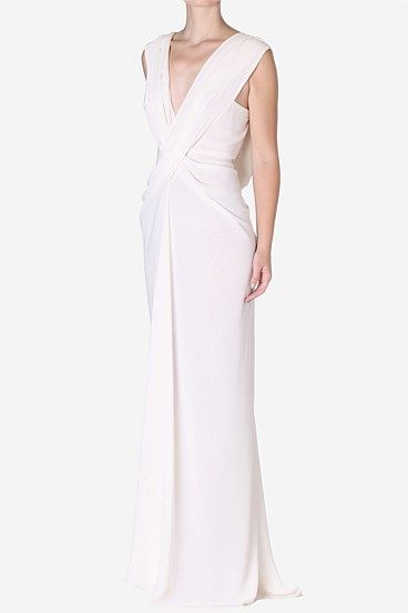 Carla Zampatti Pearl Georgette Art Deco Gown