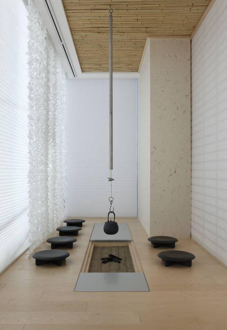 JAPANESEROOM & IRORI / 和室と囲炉裏: Mアーキテクツ|高級邸宅 豪邸 別荘 LUXURY HOUSES | M-architectsが手掛けたモダンリビングです。