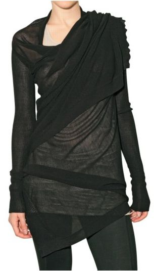 Visions of the Future: Rick Owens wrap #black #style #fashion