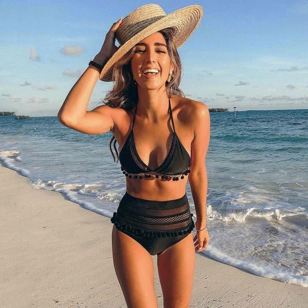 95e9730a564 AMORA High Waist Bikini in 2019 | Beachin' Looks | Lace bikini ...