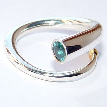 Wiggly spiral ring   Contemporary Rings by contemporary jewellery designer Paul Finch