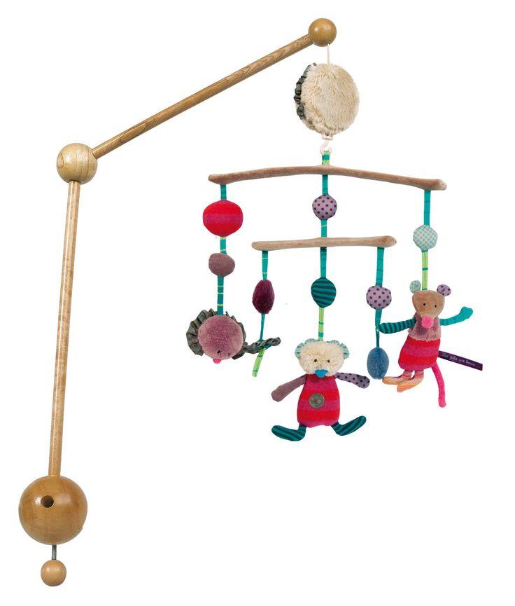Achat de Mobile musical Jolis pas beaux Moulin Roty sur la boutique de jouet jeujouet.com. Livraison gratuite en 48h seulement !
