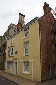 The house in Winchester where Jane spent her final days.