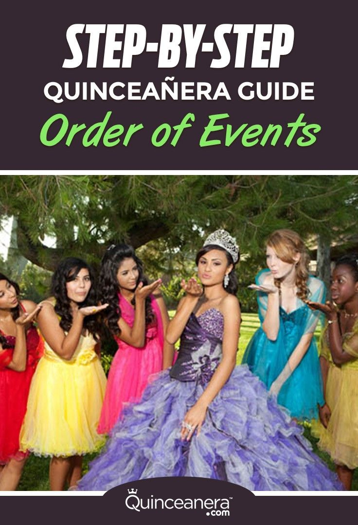 A crucial element to have a stress free Quinceanera reception is to have an written program of the important events taking place during the reception. - See more at: http://www.quinceanera.com/planning/a-step-by-step-guide-for-your-quinceanera-order-of-events/?utm_source=pinterest&utm_medium=social&utm_campaign=planning-a-step-by-step-guide-for-your-quinceanera-order-of-events#sthash.b4II8Q87.dpuf