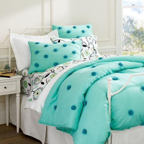 Teen Bedrooms - Crinkle Puff Quilt Sham