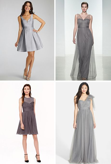 Cool Grey Bridesmaid Dresses