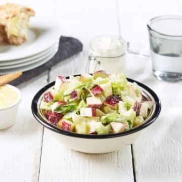 Potetsalat med epler og creme fraiche
