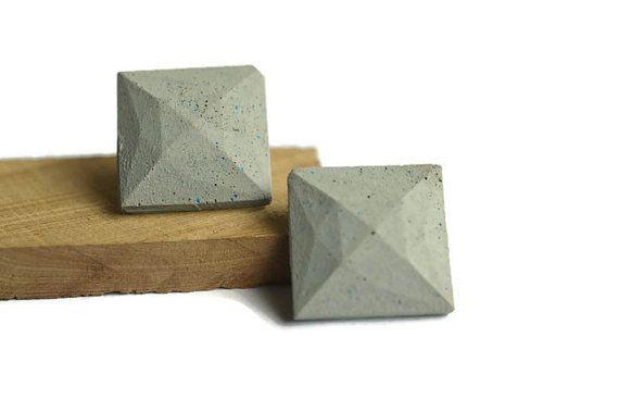 Colored concrete earrings #geometric #concrete #concreteJewelry #jewelry