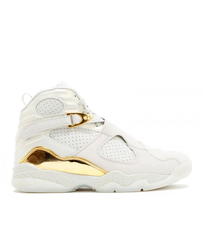5d91fd111776a1 Air Jordan 8 Retro Cc Champagne Light Bone Metallic Gold White 832821 030