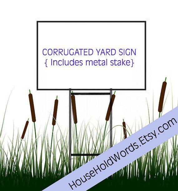 Corrugated Yard Sign Custom Yard Signs Yard Stake 24 x 18