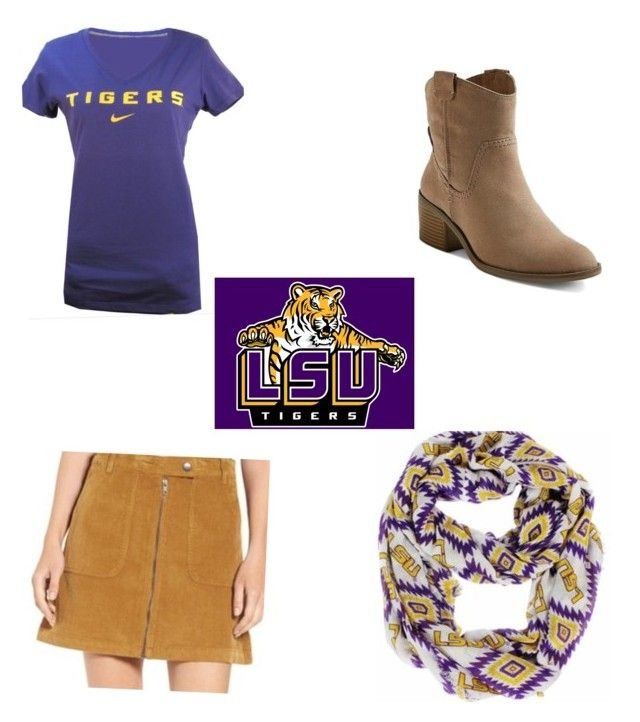 """LSU Game Day!"" by caitlincherie on Polyvore featuring Merona"