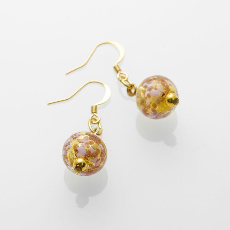 Fortuna Earrings - Venetian Murano Glass Jewellery for Australia - www.italianheart.com.au