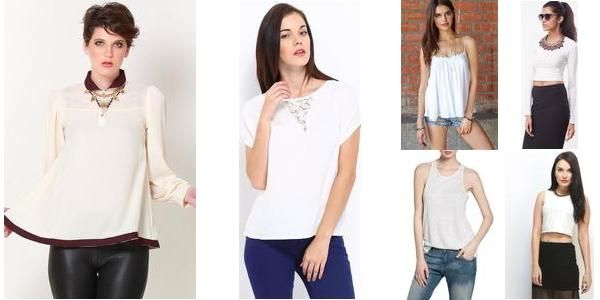 """White tops!"" Awesome list on #tops #roundneck by @garimalsr #fashion"