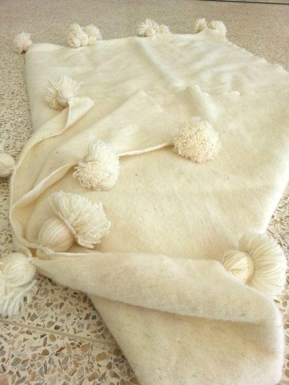 do in pale peach - best quality 11878 Moroccan 100  wool blankets woven by hand  by MoroccanTribal, $280.00