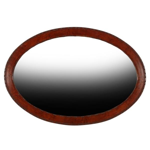 20th Century Oval Wall Mirror