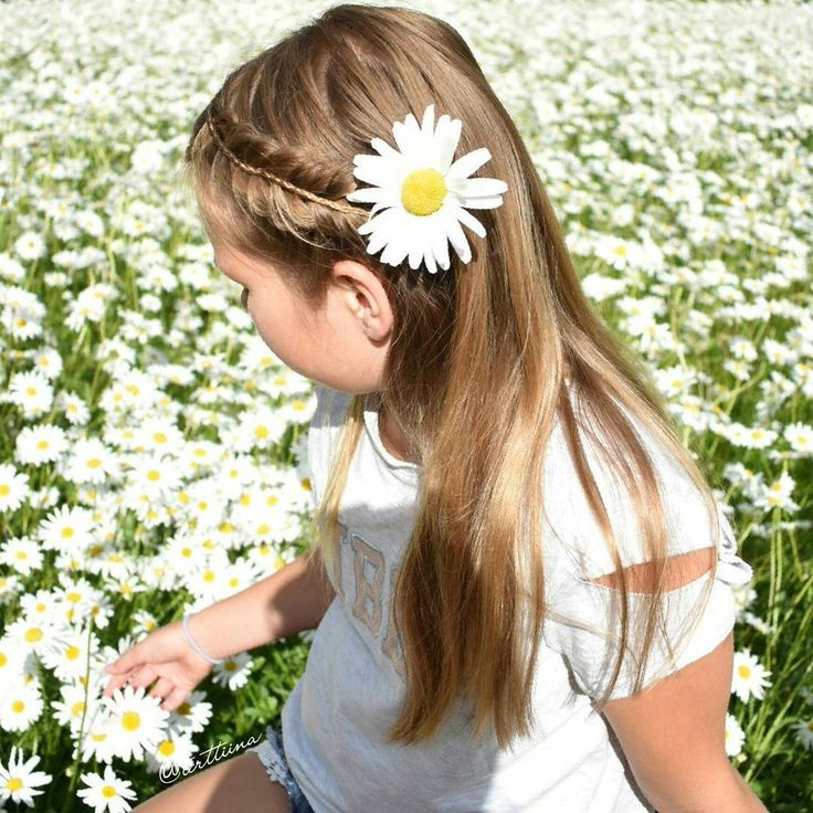 """Hair  by Terhi A (@terttiina) Instagram: """"Lovely daisy field and   half up stacked  fishtail braid."""""""