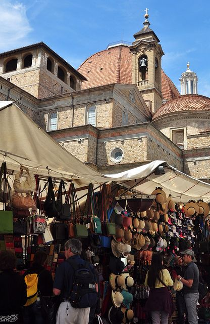 San Lorenzo Market, Florence, Italy.  One of my favorite spots in Firenze!