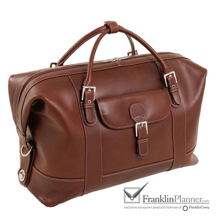 This fine leather duffel has enough room for your things and features interior zipper pockets to keep things organized.  $279.95 #travel