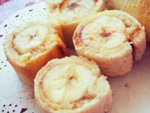 食パンで♪まるごとバナナのシナモンロールの画像