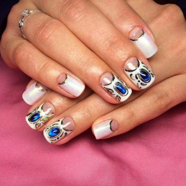 17 Best Ideas About Rhinestone Nail Designs On Pinterest