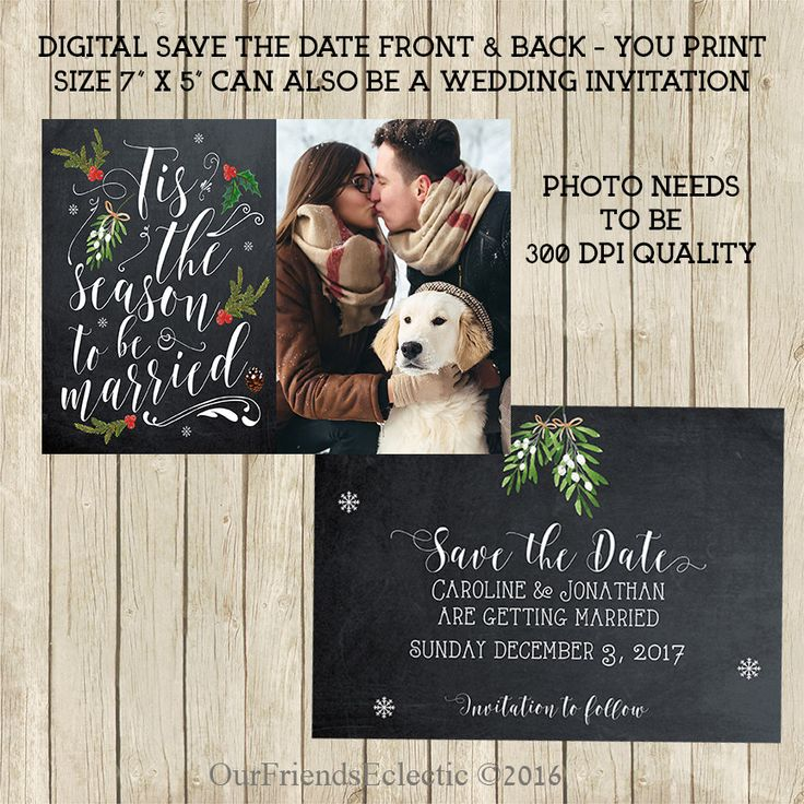 love quotes for invitations%0A Christmas save the date  Printable save the date  chalkboard Save the Date   photo
