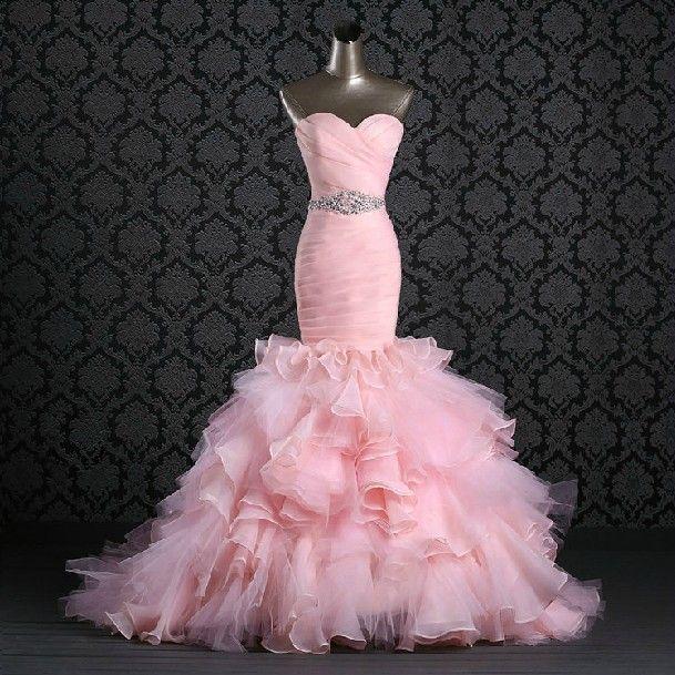 Beautiful Red And White Wedding Dress: Beautiful Pink Wedding Dresses