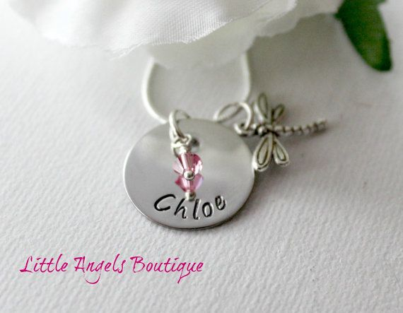 Dragonfly Child Personalized Name Custom by littleangelsboutique