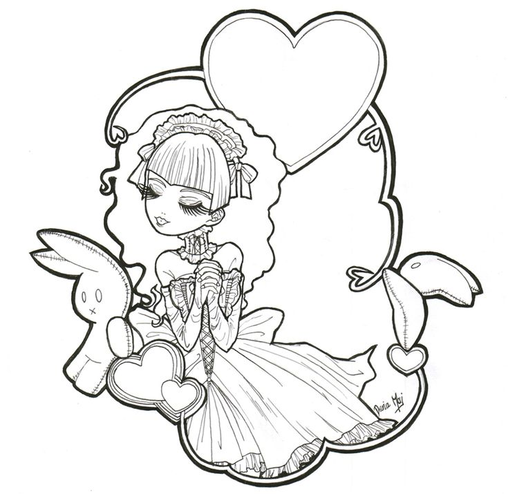goth coloring pages | Gothic Anime Coloring Pages. Gothic ...