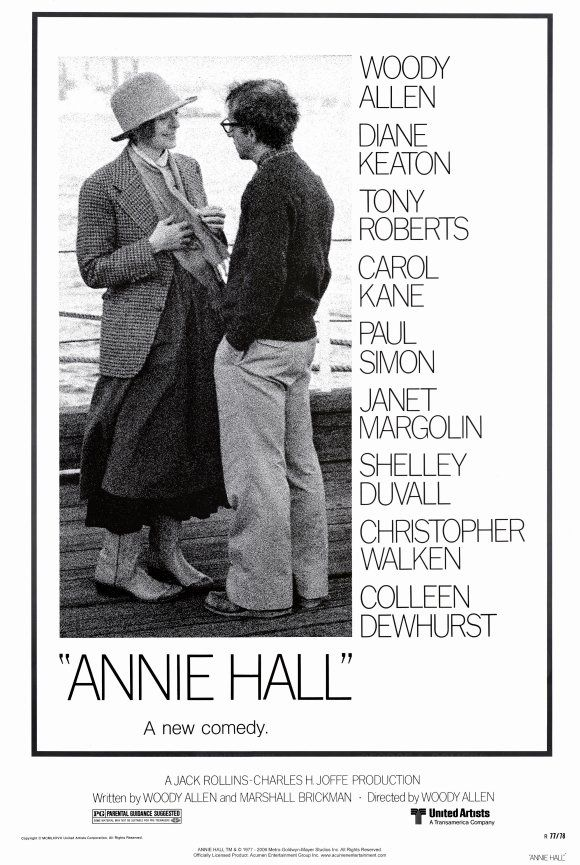 Annie Hall - A remarkably funny, modernist, quasi-existencialist, analitically fascinating pastiche about modern life and relationships, (before hipsters ruined it for everybody) with Woody Allen at his funniest,grouchiest, Jew-iest, most neurotic and self-loathing. (9/10)