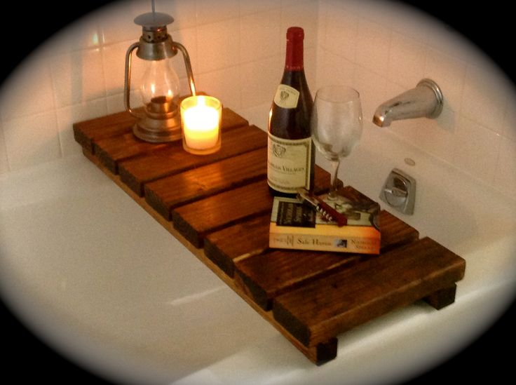 Just A Little RELAXING On This Sweet Bath Tub Tray/table!