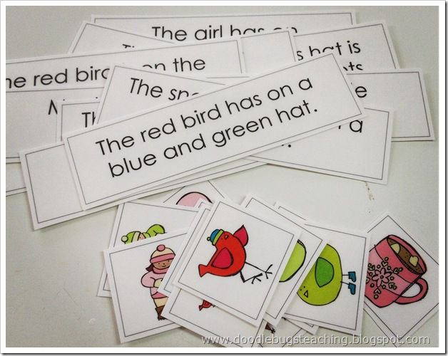 Match the picture to the sentence. Fluency, sight-words, and comprehension!