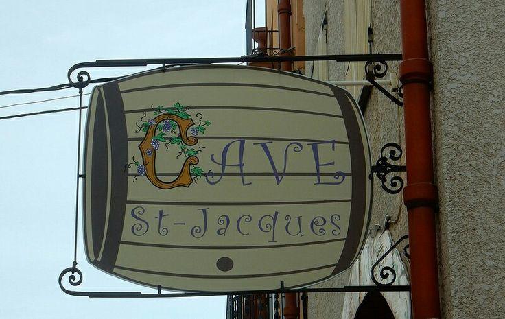 "Sign ""Cave St. Jacques"" - Wine Cellar St. Jacques."