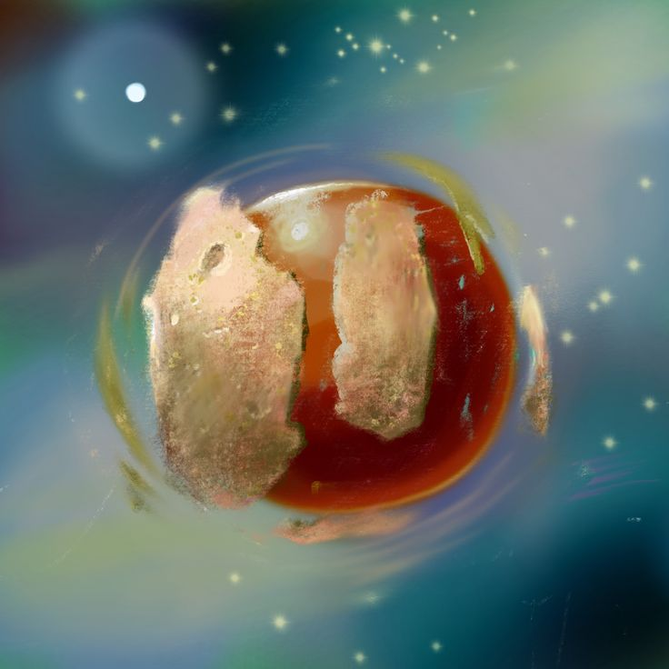 """""""Planet is born""""  Digital painting"""