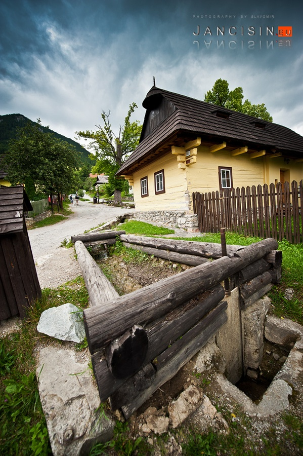 Vlkolinec    Vlkolínec, situated in the centre of Slovakia, is a remarkably intact settlement of 45 buildings with the traditional features of a central European village. It is the region's most complete group of these kinds of traditional log houses, often found in mountainous areas.    Photo: Slavomir Jancisin