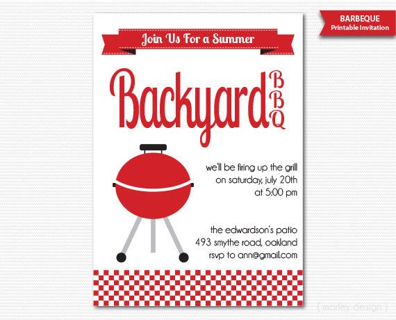 Summer Barbeque Invitation BBQ Invitation Summer Party Neighborhood BBQ Block Party Invitation Digital Printable Summer BBQ Backyard Bbq diy by MarleyDesign on Etsy https://www.etsy.com/listing/101949009/summer-barbeque-invitation-bbq