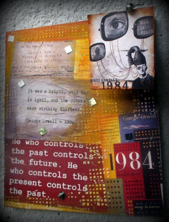 FREE SHIPPING Mix media painting: War is peace by LettersFromHelen