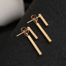 2017 New Fashion Simple T Bar Ear Jacket Stud Earrings for Women Wedding Gifts ED140 //FREE Shipping Worldwide //