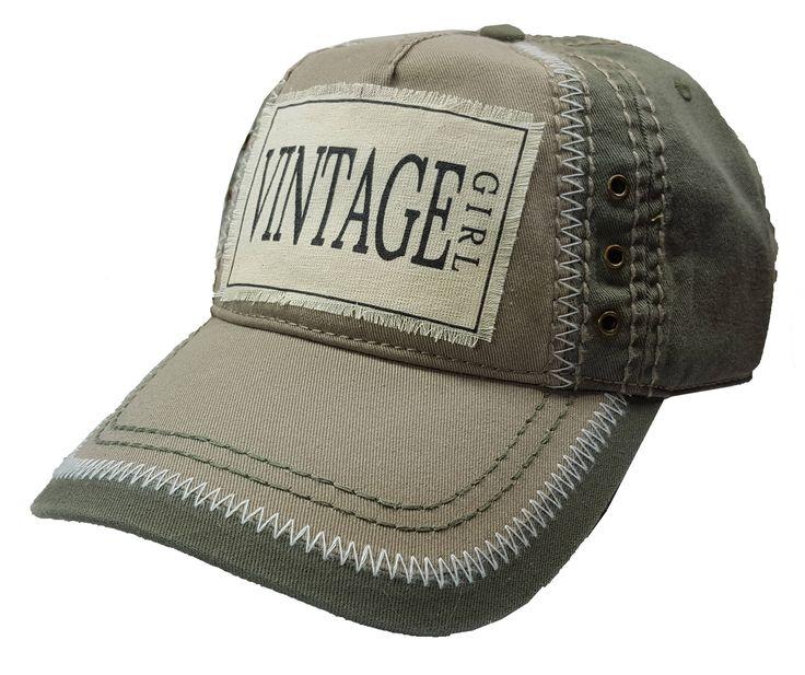 """Women's Baseball Cap, """"Vintage Girl"""", Baseball Cap, Ladies Baseball Cap, Trucker Hat, Bling Baseball Cap, Fashion Baseball hat, Trucker Hat by MBellishedHats on Etsy"""