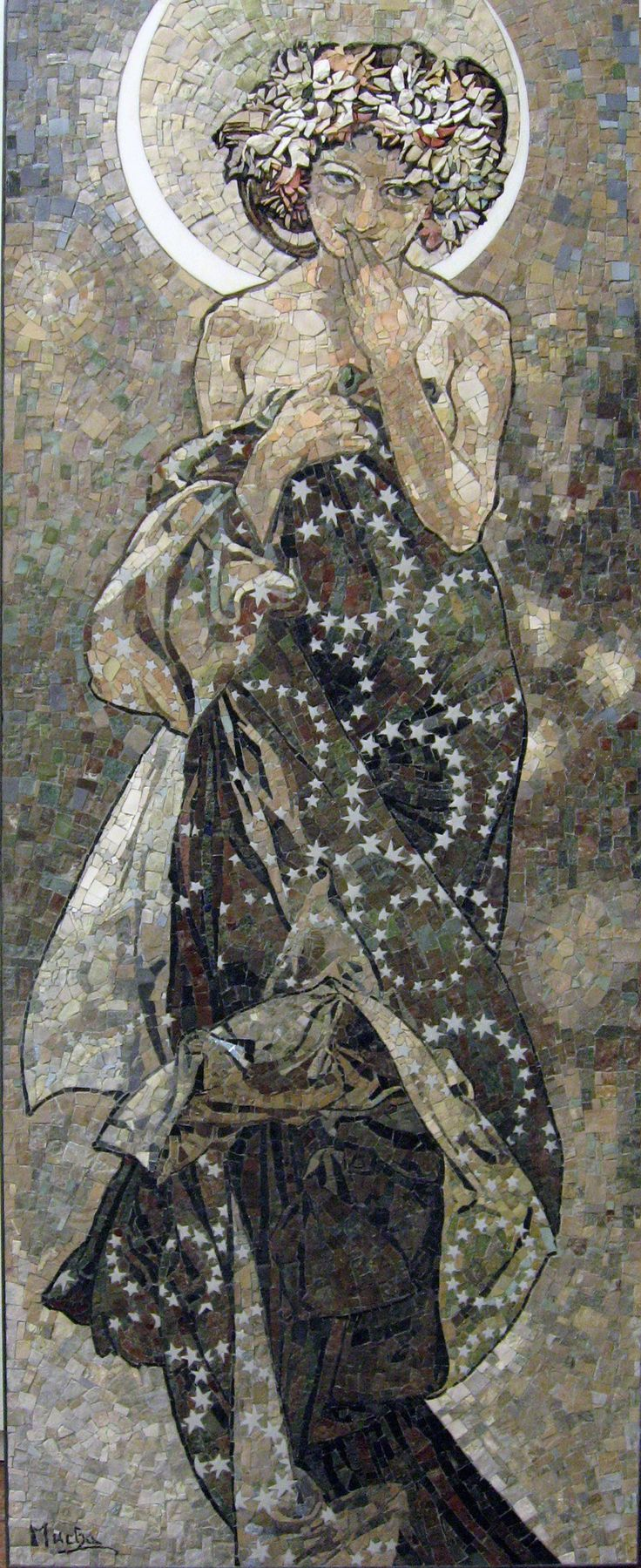 Clair de Lune - Mucha Alfonse Mosaic by SMF 2013_2014 Murble